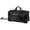 Proton duffel bag with wheels in black-solid