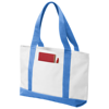 Madison tote bag in white-solid-and-ice-blue