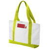 Madison tote bag in white-solid-and-lime-green