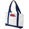 Madison tote bag in white-solid-and-navy