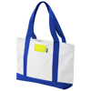 Madison tote bag in white-solid-and-royal-blue