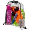 Lancaster transparent drawstring backpack in transparent-clear