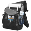 Wellington 17'' laptop backpack in black-solid-and-grey