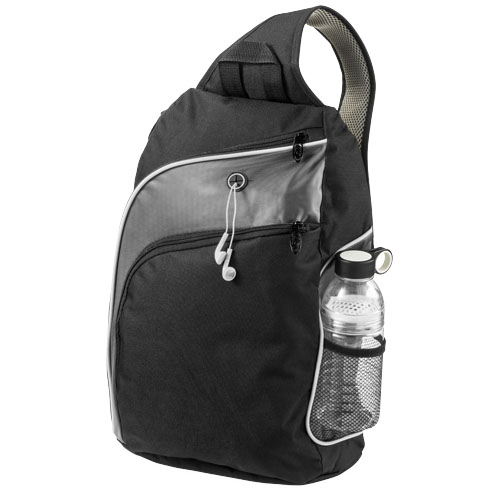 Vortex 15'' laptop triangle citybag in black-solid-and-grey