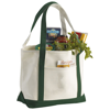 Premium heavy-weight 610 g/m² cotton tote bag in green
