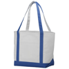 Premium heavy-weight 610 g/m² cotton tote bag in natural-and-royal-blue