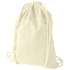 Oregon 100 g/m² cotton drawstring backpack in natural