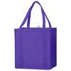 Juno small bottom board non-woven tote bag in purple