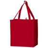 Juno small bottom board non-woven tote bag in red