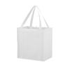Juno small bottom board non-woven tote bag in white-solid