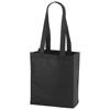 Mini Elm non-woven tote bag in black-solid
