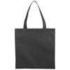 Zeus small non-woven convention tote bag in black-solid