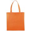 Zeus small non-woven convention tote bag in orange