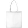 Zeus small non-woven convention tote bag in white-solid