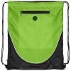 Peek zippered pocket drawstring backpack in lime