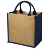 Chennai jute tote bag in natural-and-navy