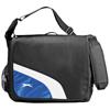 Wembley 17'' laptop shoulder bag in black-solid-and-royal-blue