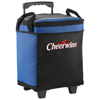 Roller 32-can cooler bag with wheels in royal-blue-and-black-solid