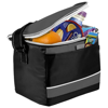Levy sports cooler bag in black-solid-and-grey