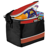 Levy sports cooler bag in black-solid-and-red