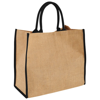 Harry coloured edge jute tote bag in natural-and-black-solid