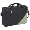 Corner Pocket Convention Briefcase in black-solid-and-lime