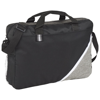 Corner Pocket Convention Briefcase in black-solid-and-white-solid