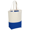 Colour-pop 284 g/m² cotton tote bag in natural-and-royal-blue