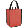 Acolla small laminated shopping tote bag in red