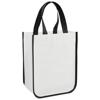 Acolla Small Laminated Shopper Tote in white-solid