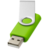Rotate-basic 4GB USB flash drive in lime-and-silver