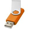 Rotate-basic 4GB USB flash drive in orange-and-silver