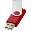 Rotate-basic 4GB USB flash drive in red-and-silver