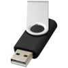 Rotate-basic 8GB USB flash drive in black-solid-and-silver