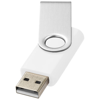 Rotate-basic 8GB USB flash drive in white-solid-and-silver