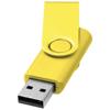 Rotate-metallic 2GB USB flash drive in yellow
