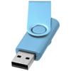 Rotate-metallic 4GB USB flash drive in blue