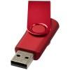 Rotate-metallic 4GB USB flash drive in red