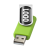 Rotate-doming 2GB USB flash drive in lime