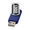 Rotate-doming 4GB USB flash drive in blue