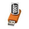 Rotate-doming 4GB USB flash drive in orange