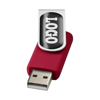 Rotate-doming 4GB USB flash drive in red