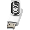 Rotate-doming 4GB USB flash drive in white-solid-and-silver