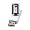 Rotate-doming 4GB USB flash drive in white