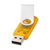 Rotate-translucent 2GB USB flash drive in orange