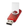 Rotate-translucent 2GB USB flash drive in red