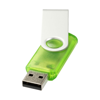 Rotate-translucent 4GB USB flash drive in green