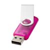 Rotate-translucent 4GB USB flash drive in pink