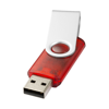 Rotate-translucent 4GB USB flash drive in red