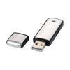 Square 4GB USB flash drive in black